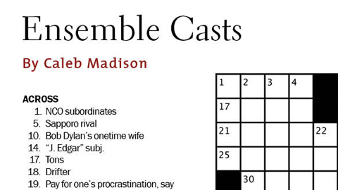 DGA Quarterly Winter 2012 Crossword Puzzle